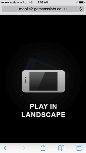 You must turn your phone to Play