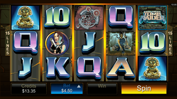 Tomb Raider Pokies - Click to Play