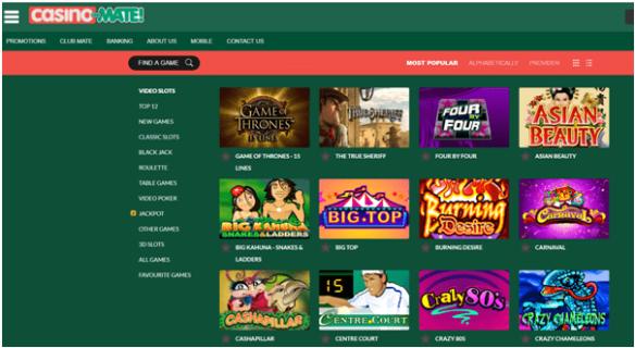 Casino Mate Games