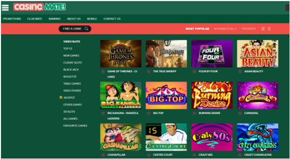 Casino Mate Games