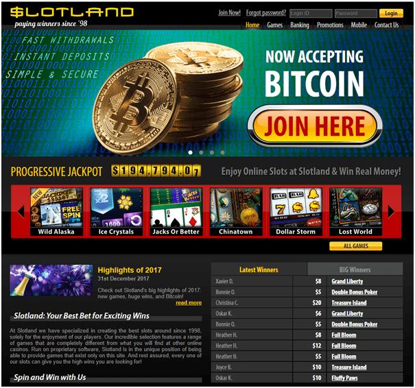 Slotland Casino pokies to play with Bitcoins