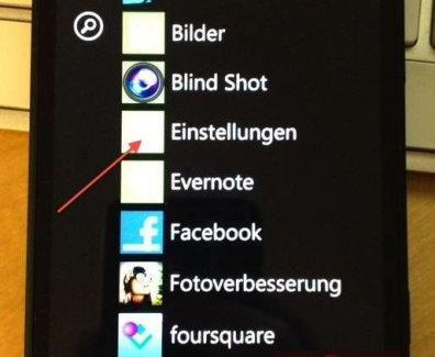 Thetering auf dem Windows Smarphone