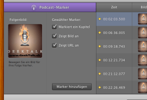 Kapitelmarken setzten - #GeekTalk Podcast Tutorial