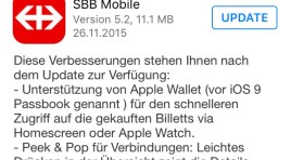 SBB Billett endlich auch in Apple Wallet