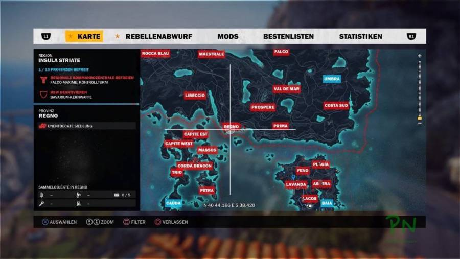 Just Cause 3 - Die Hälfte der riesigen Map