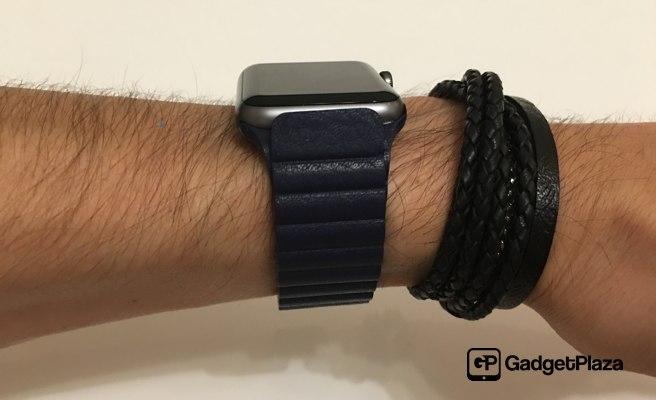 AliExpress Leather Loop Blau