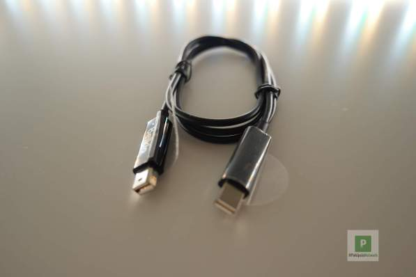 Das beigelegte Thunderbolt Kabel