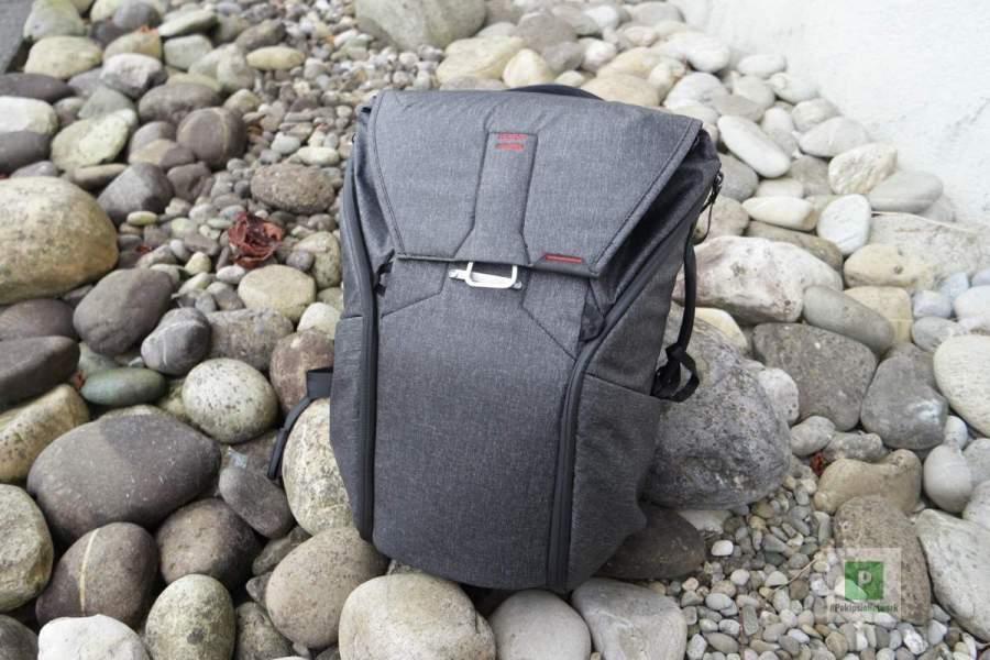 Der Rucksack von hinten