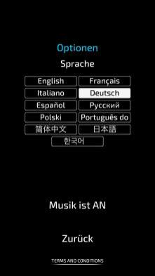 Die Sprache kann frei gewählt werden