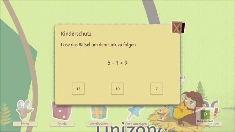 Kinderschutz fürs verlassen der App