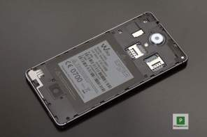 Das geöffnete Smartphone