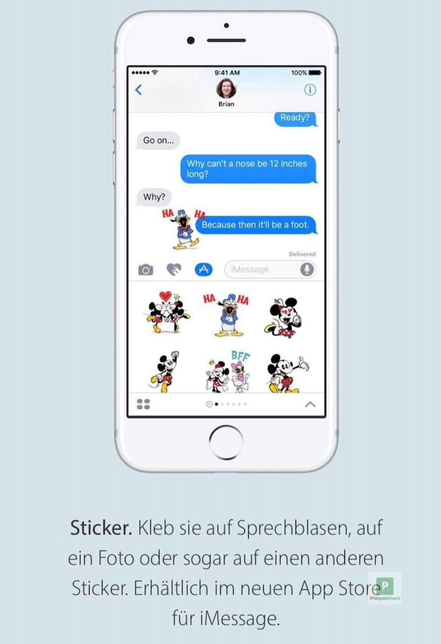 Sticker in iMessage