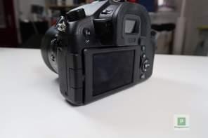 Die Kamera von hinten