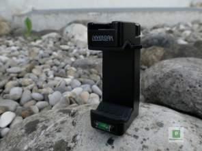 Smartphone Halterung mit Wasser-Waage