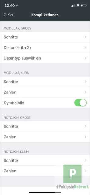 Apple Watch Einstellungen