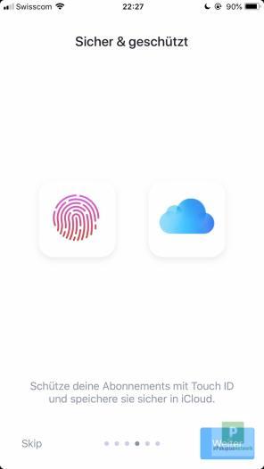 Geschützt mit TouchID und über die iCloud synchronisierbar