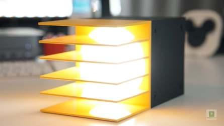 Geteiltes Licht in Gelb