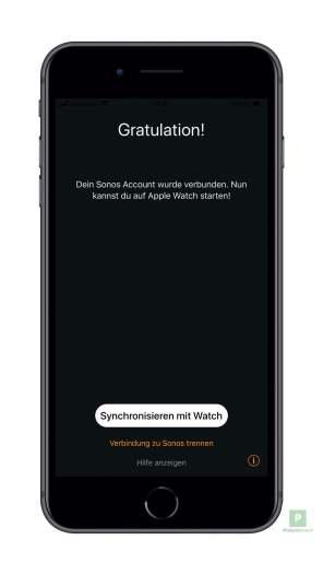 Einstellungen synchronisieren auf die Watch