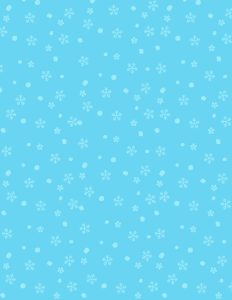 blue with white snowflakes