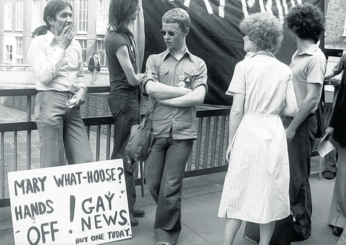 A Photograph Of Gay Liberation Front Members