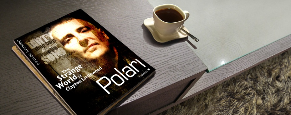 Polari Magazine, LGBT arts and culture magazine, issue 2, Clayton Littlewood, on a coffee table