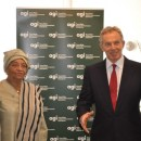 Tony Blair and Ellen Johnson Sirleaf at AGI, not taking a stand for LGBT rights