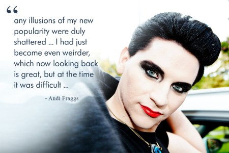 Andi Fraggs, On Divine