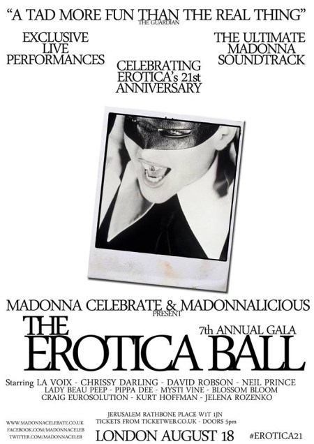 Erotica Ball Poster, London August 18