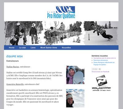 snowboard web design