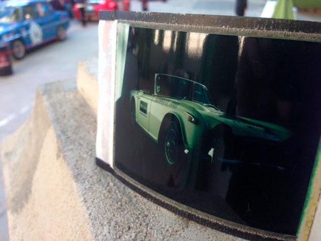 Animation photo Polaroid Alain Figaret au Tour Auto 2016