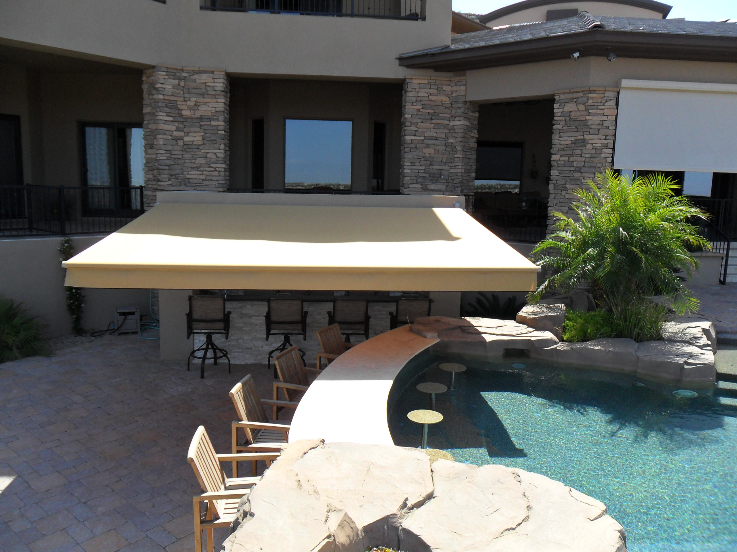 adjustable retractable view inc awning awnair see img fabric awnings