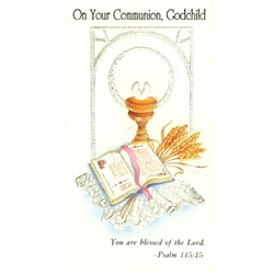 Polish Art Center First Communion Card Godchild