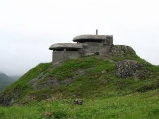 A World War II bunker on top of Bunker Hill in Unalaska (Photo Credit: Jillian Worssam).