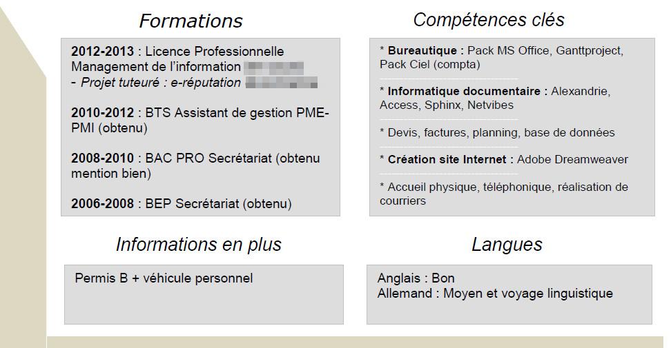 analyse de cv  u0026quot management de l u0026 39 information u0026quot   avec corinne