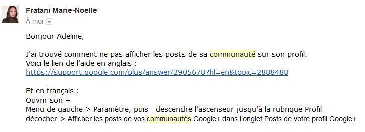 googleplus - posts communauté