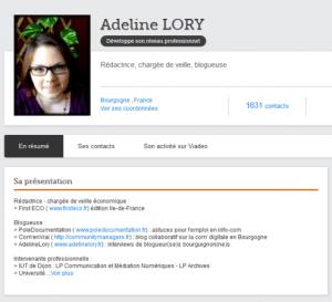 profil complet - adeline - viadeo