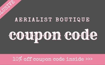 Aerialist Boutique Coupon Code: Save 10% on Pole Fitness Clothing, Accessories & More!