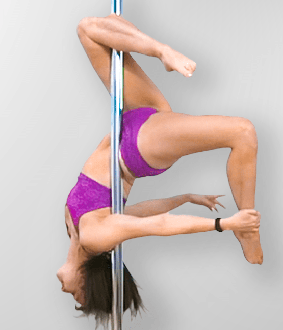 Pole Dance Moves from an Outside Leg Hang