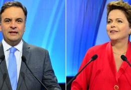 Dilma e Aécio deixam tom agressivo de lado em debate da TV Record
