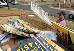 Candidatos têm 30 dias para retirar placas de propaganda