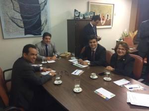 Reunião ocorreu em Brasília 300x225 - WILSON FILHO COMEMORA INCLUSÃO DA OBRA DE DUPLICAÇÃO DA BR-230 DE CAMPINA A CAJAZEIRAS