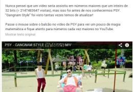 Clipe Gangnam Style supera limite de visualizações no YouTube