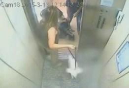 BARRACO E AGREÇÃO: Idosa agride mãe com bebê em elevador – VEJA VÍDEO