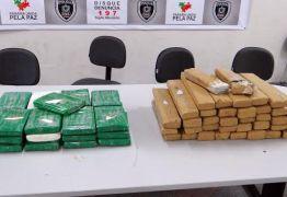 Polícia apreende 40 quilos de maconha e 26 quilos de cocaína no Sertão do Estado