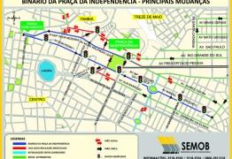 Binário da Praça da Independência inicia operação a partir da próxima segunda