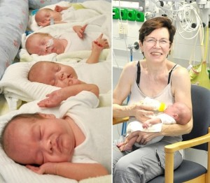 Mãe de quadrigêmeos 65 anos 300x262 - Mulher de 65 anos se torna a mãe mais velha a dar à luz quadrigêmeos