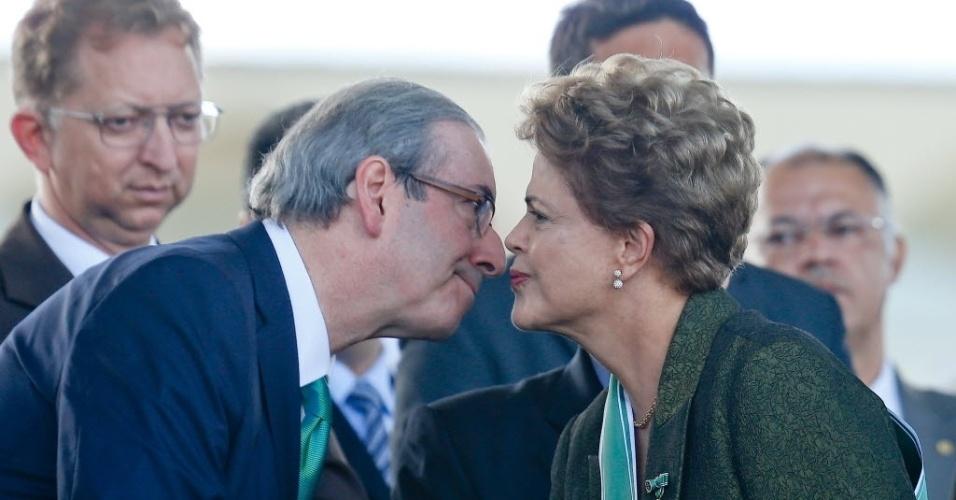 cunha X Dilma 2 - Cunha ironiza Dilma: 'Não sabia que a Petrobras não era do governo'