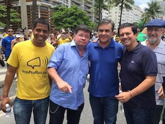 """ccl - Veja Vídeo - AUSENTE DA PARAÍBA CÁSSIO PROTESTA NO RIO DE JANEIRO. """"Ele estaria querendo mudar de domicílio eleitoral ? """" Indaga pres. do PSB"""