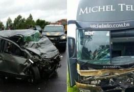 Acidente com ônibus de Michel Teló, no Paraná, deixa três pessoas mortas