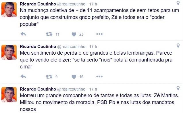 RC - Ricardo presta homenagem a dirigente do PSB paraibano que morre vítima de acidente